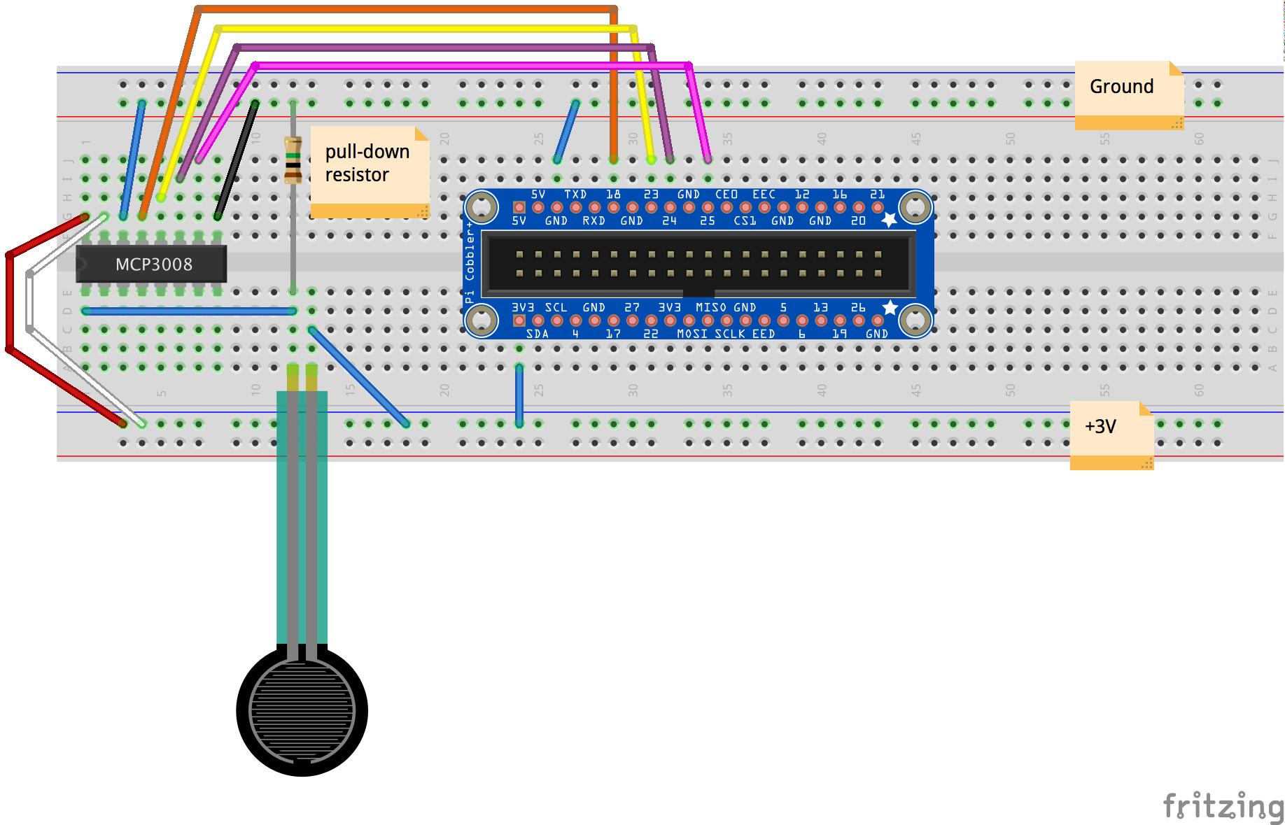 Fsr Wiring Diagram 18 Images Diagrams Fender Telecaster 2015 01 07 Rasp Pi Breadboard Using A Force Sensitive Resistor With Raspberry